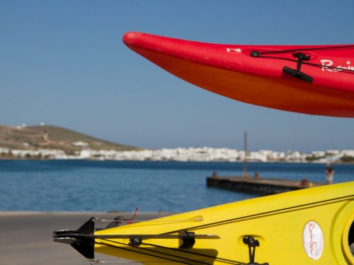 They sea-kayaked around Antiparos